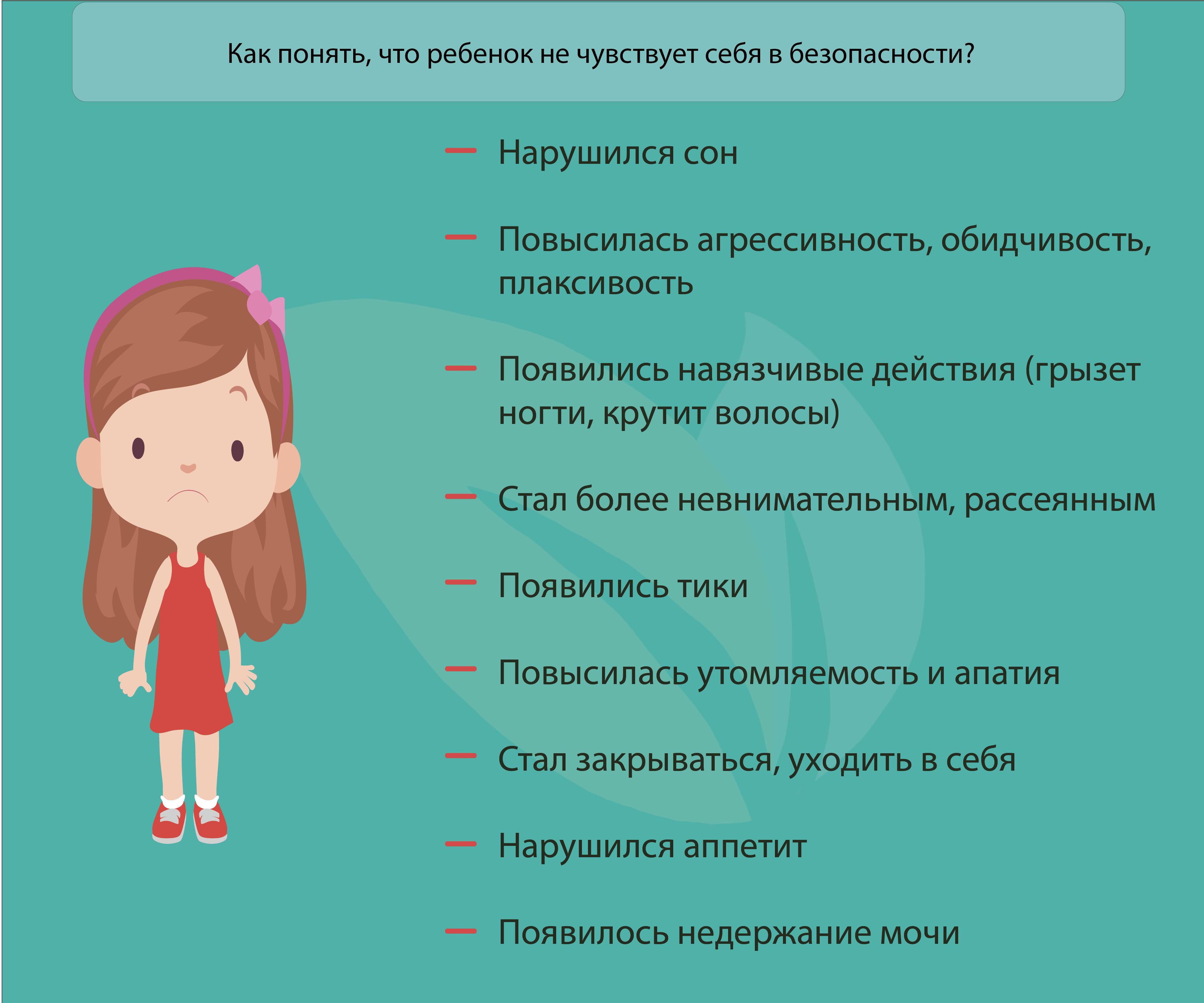2 Как понять что ребенок не чувствует себя в безопасности